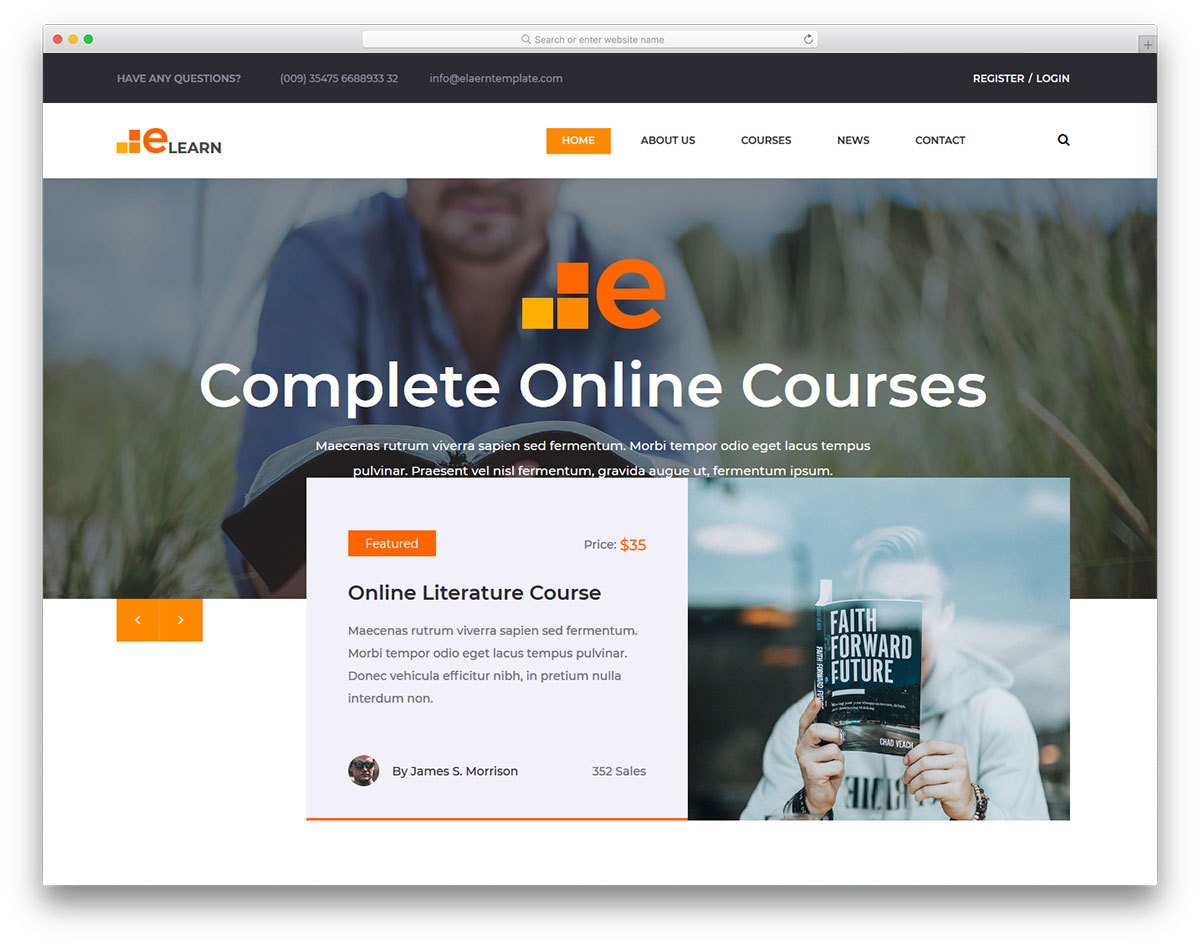 Elearn Free Template