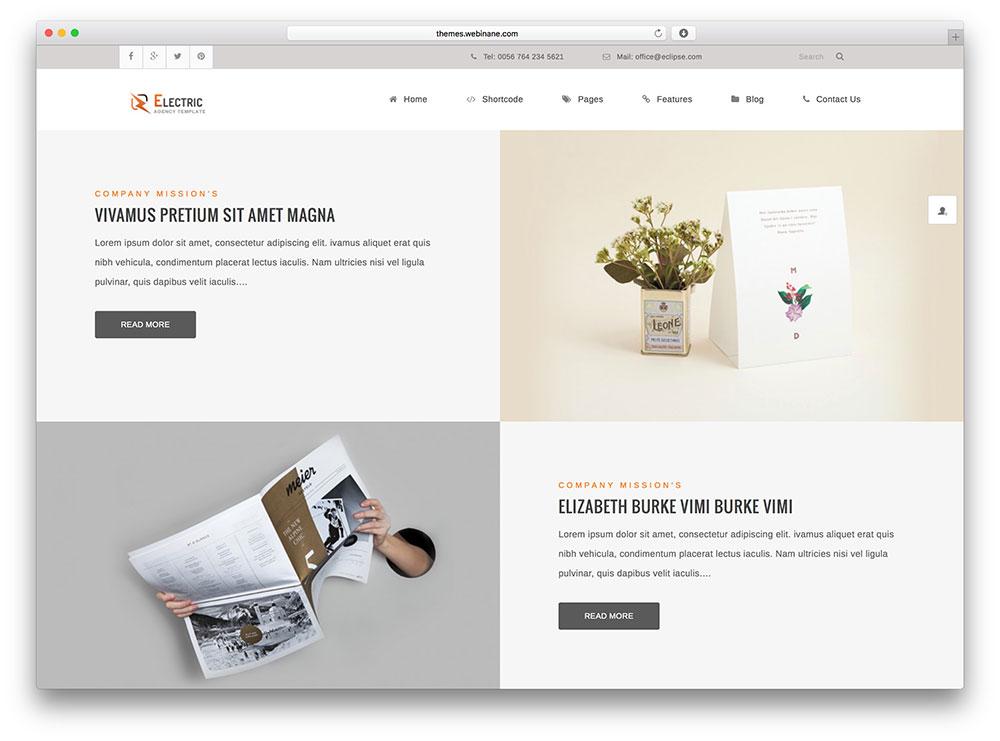 electric - creative portfolio wp theme