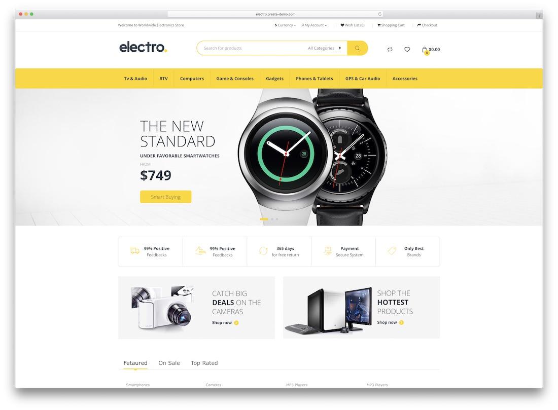 electro opencart theme