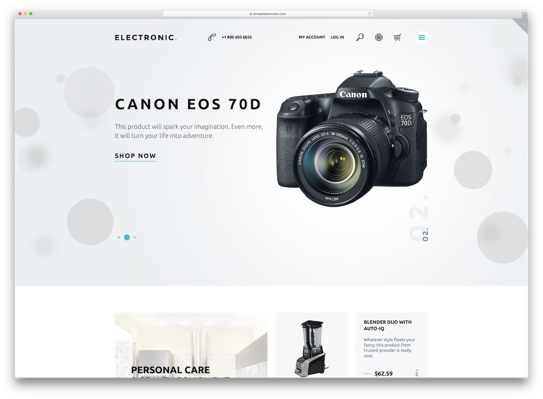 electronic magento technology theme