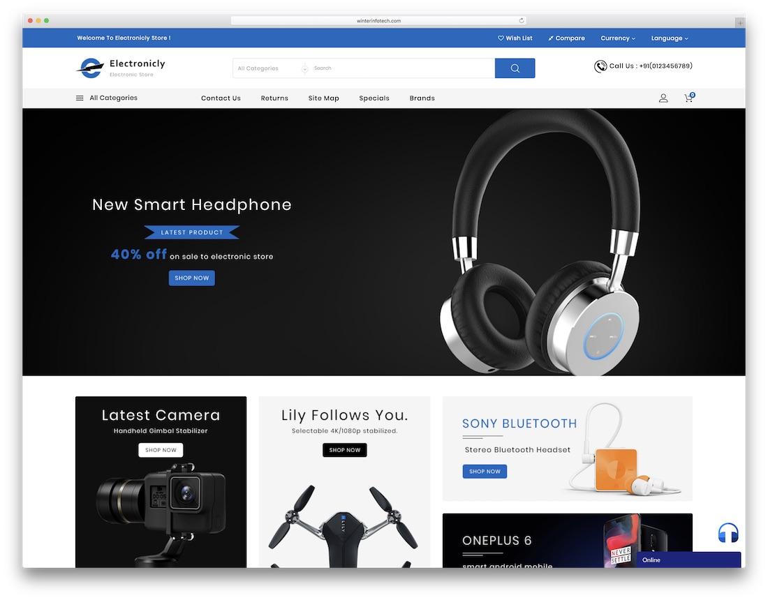electronically ecwid ecommerce theme