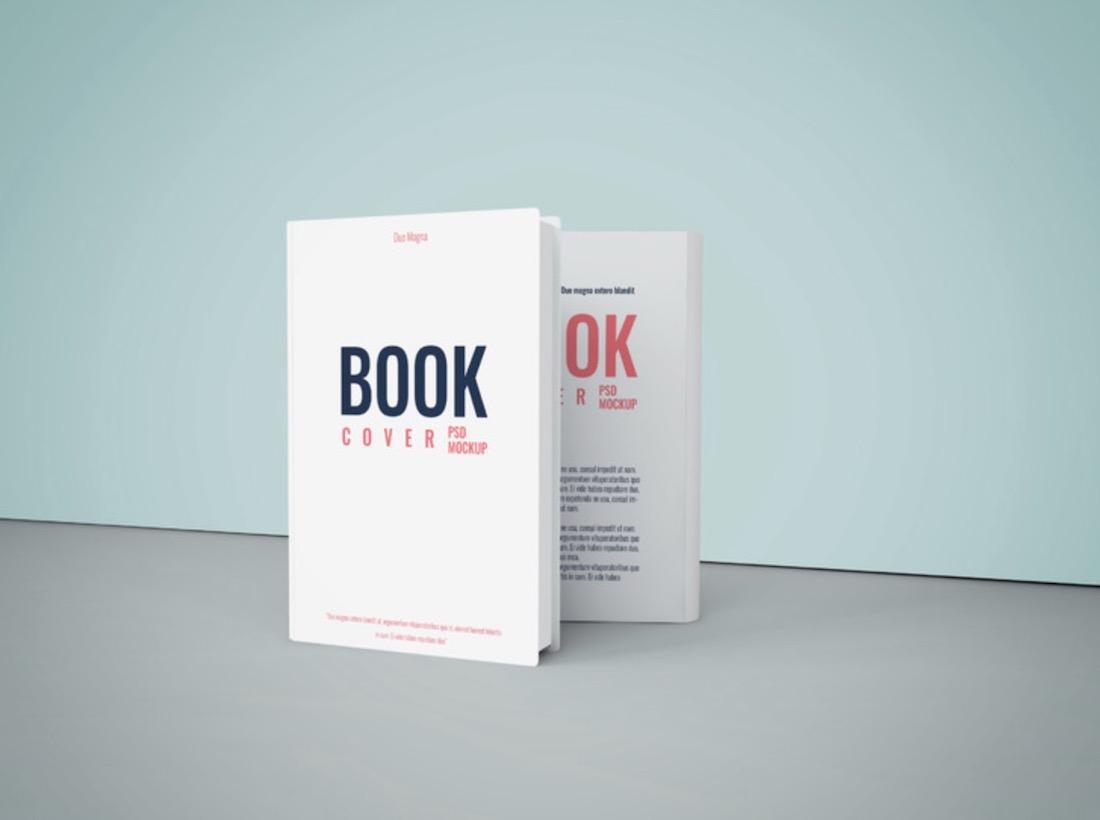 elegant book cover psd mockup