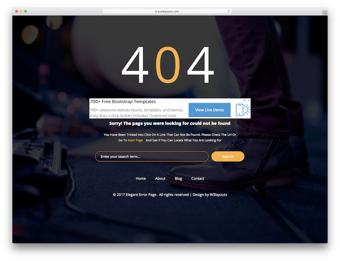 19 best easy to use free 404 error page templates 2018 colorlib