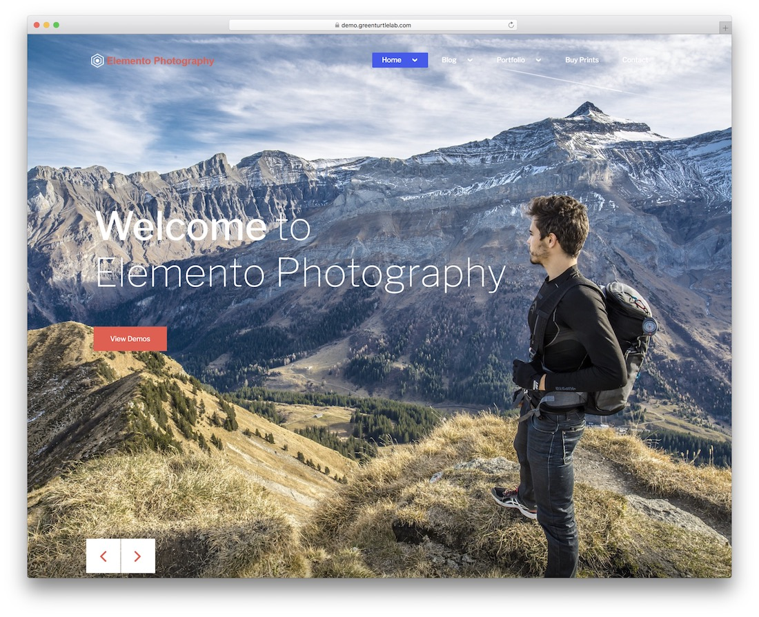 elemento photography free wordpress theme