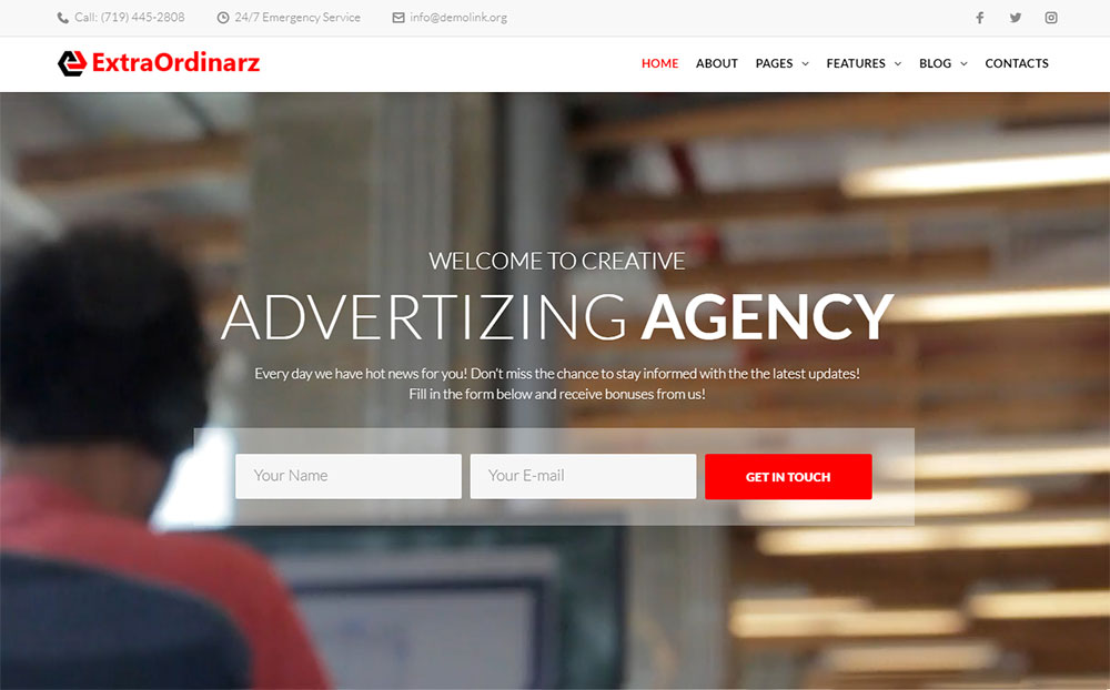 ExtraOrdinarz - Advertising Agency WordPress Theme