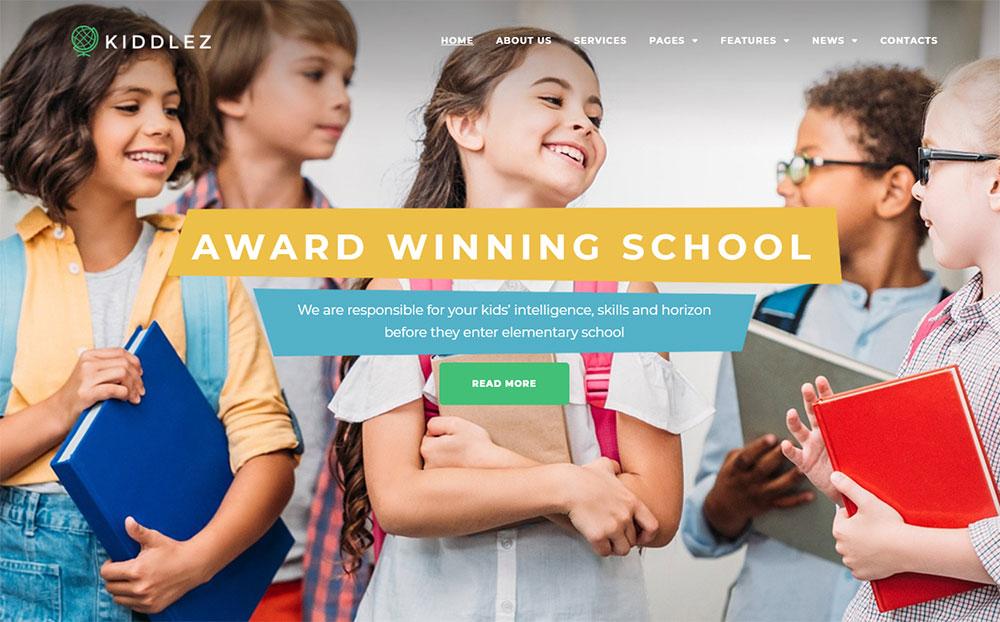 Kiddlez - Primary School Responsive WordPress Theme