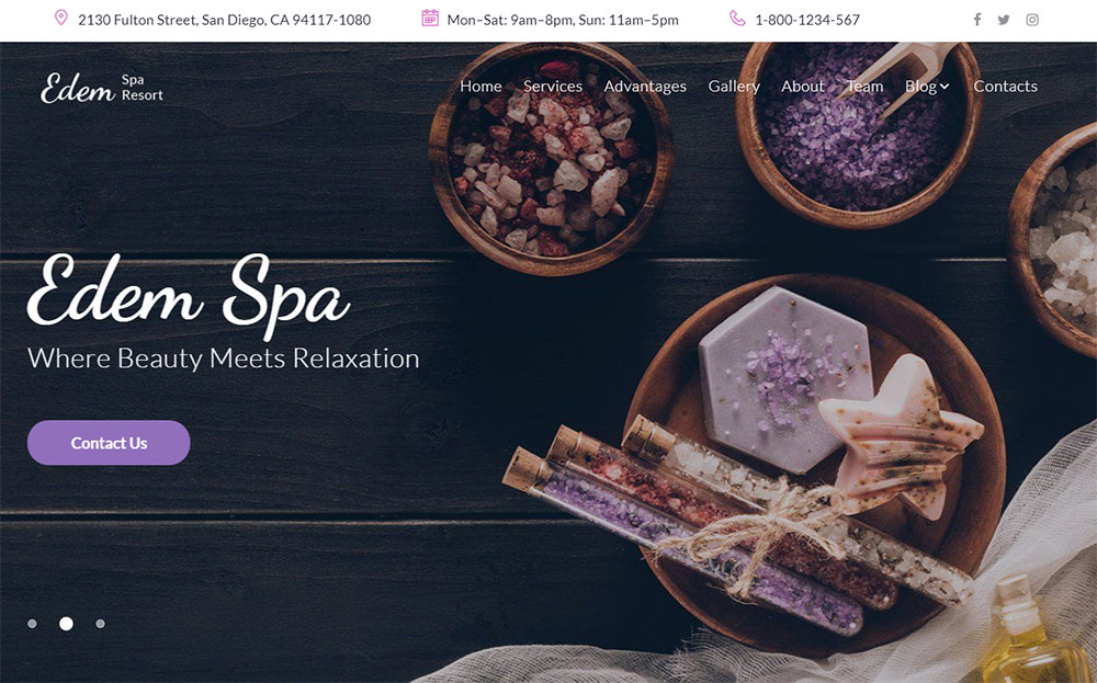 Edem - Sophisticated Beauty Salon WordPress Theme