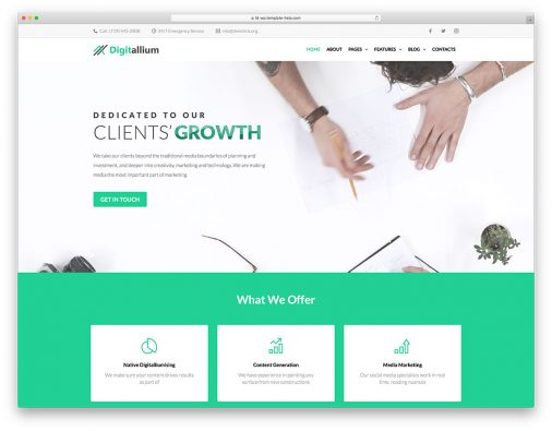 Elementor Business Wordpress Themes