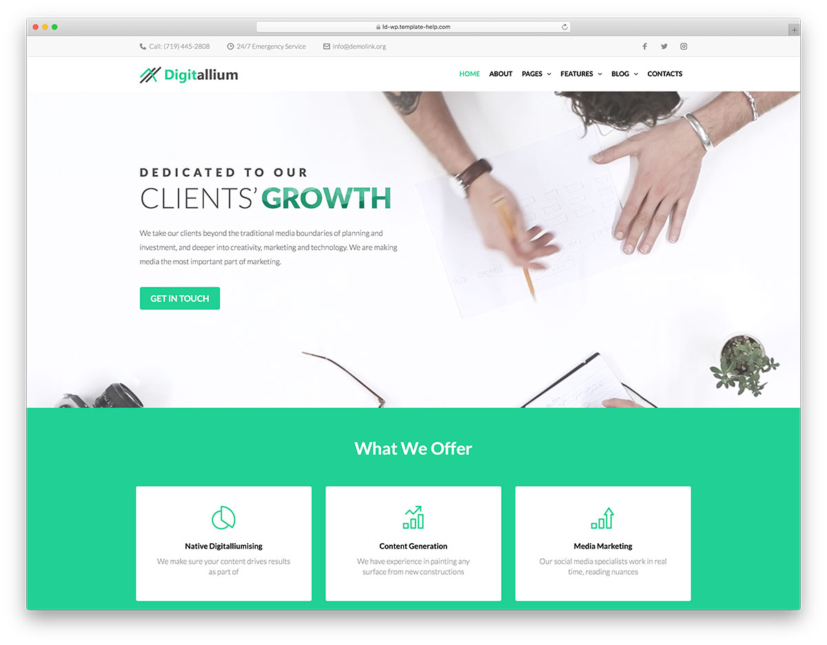 10 Best Business Elementor WordPress Themes 2018