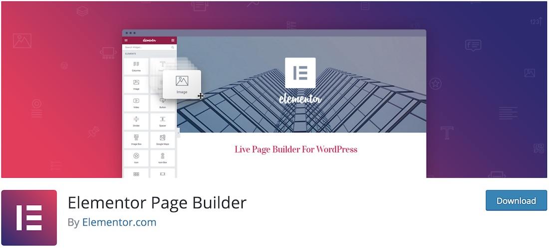 elementor landing page builder