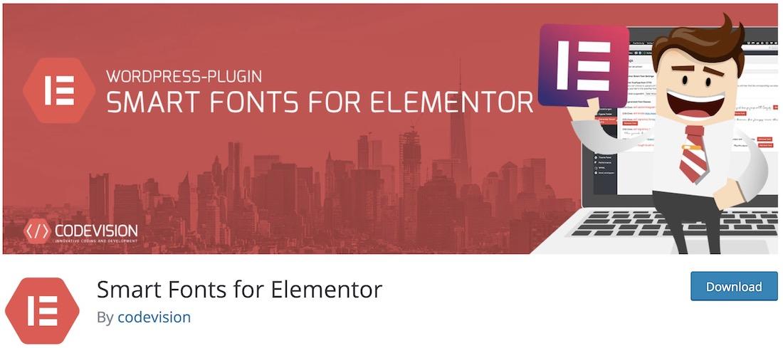 elementor smart fonts