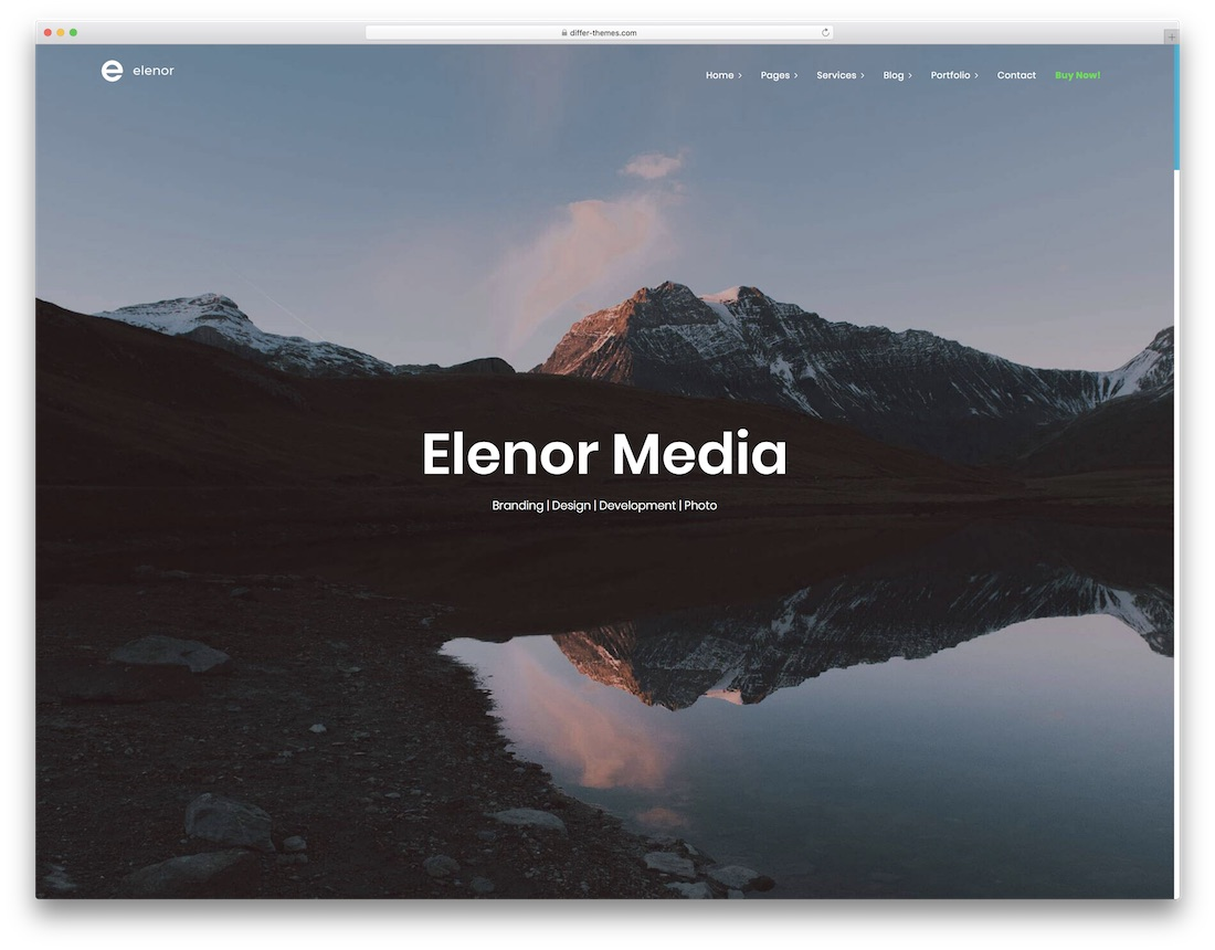 elenor designer website template