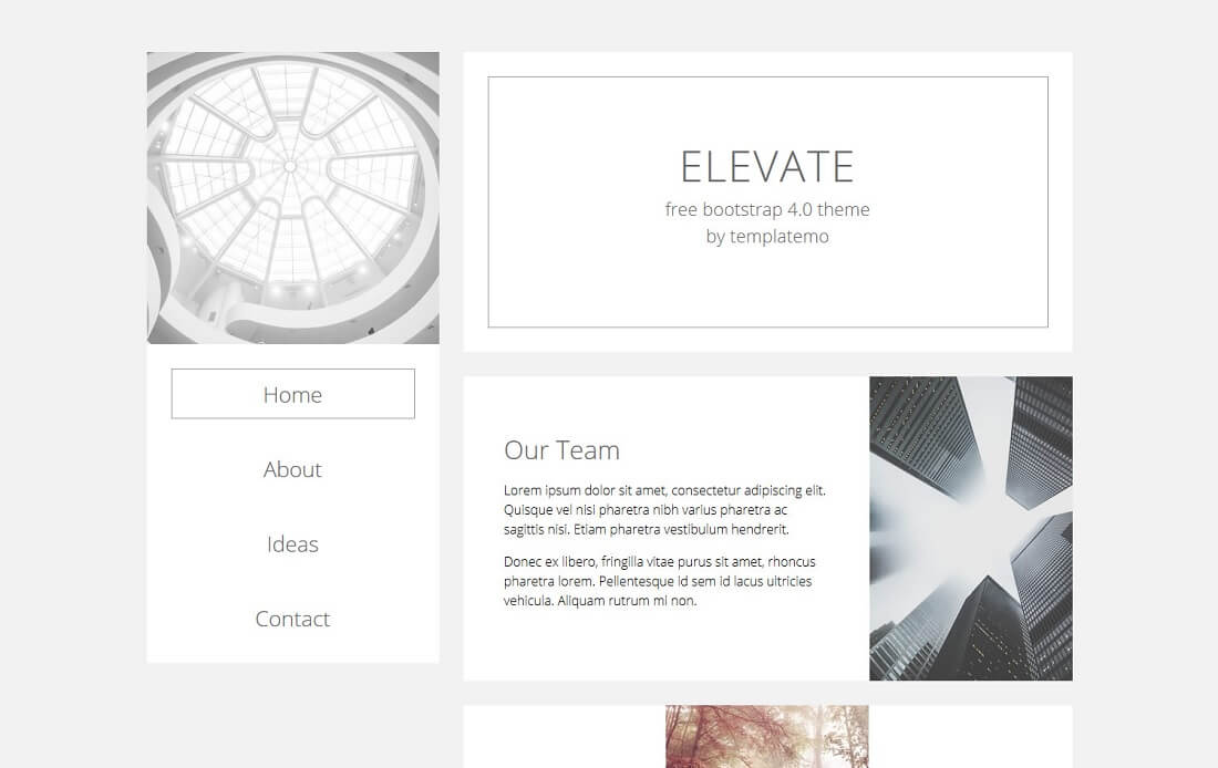 elevate free bootstrap 4 portfolio website template
