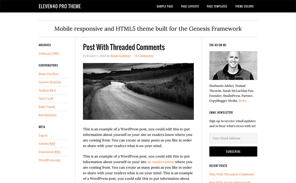 eleven40 blog theme
