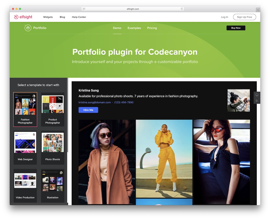 elfsight portfolio wordpress gallery plugin