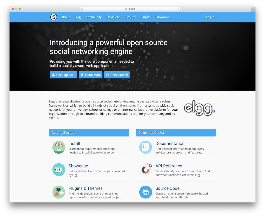 elgg community website builder