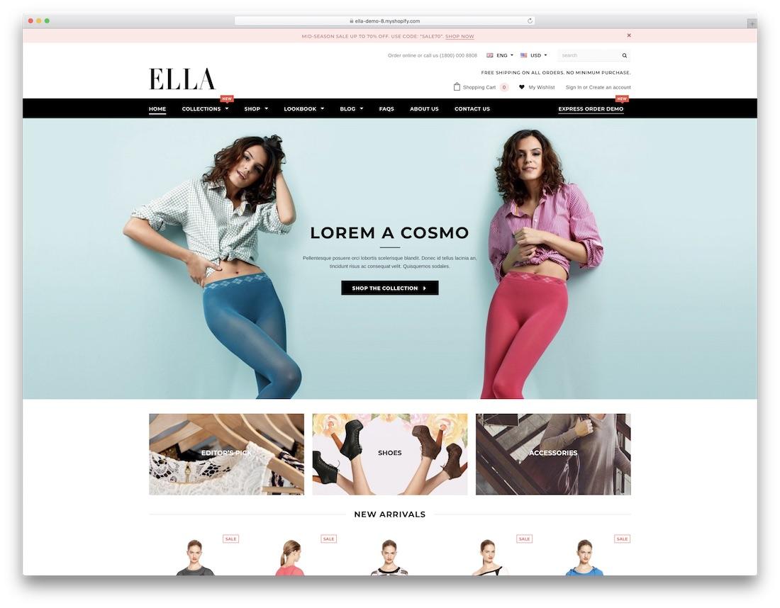 ella fashion shopify theme