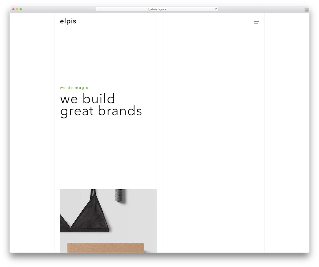 elpis simple website template