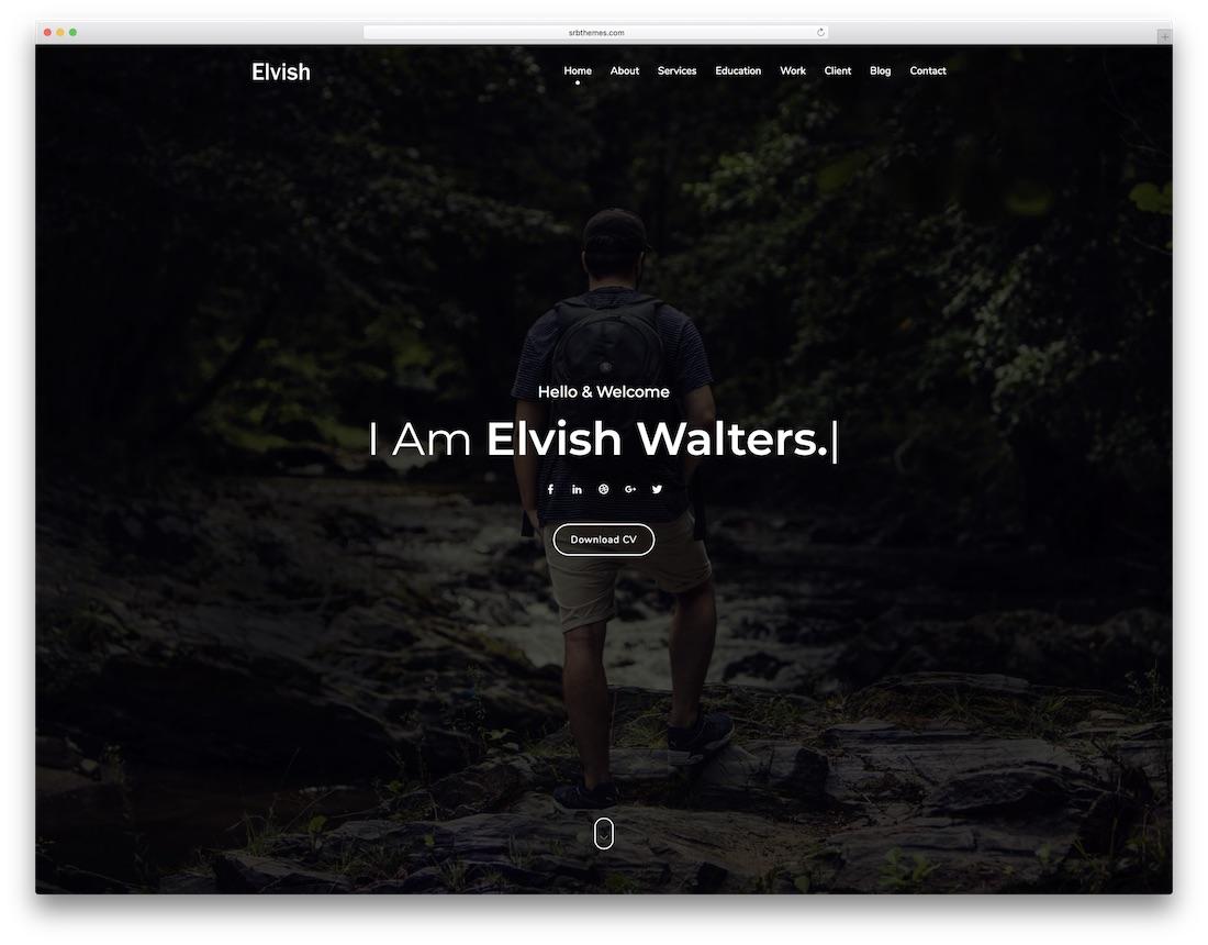 elvish freelancer website template