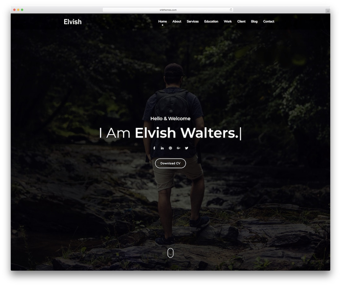 elvish personal website template