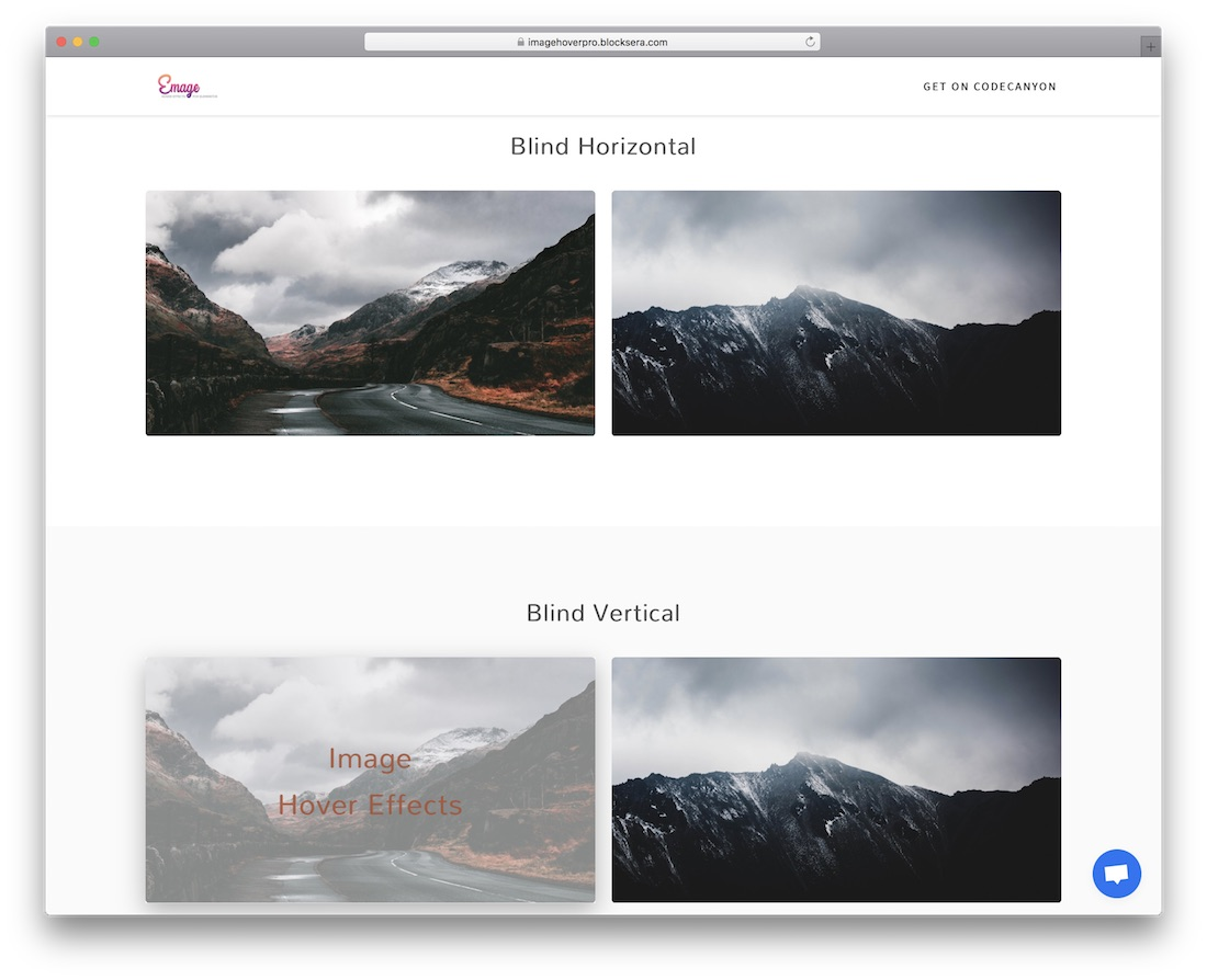 emage image hover effects