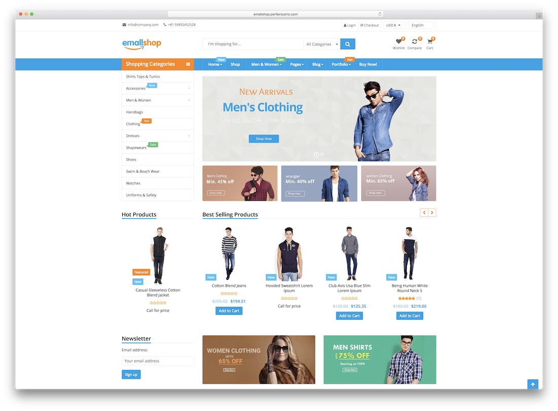 emallshop virtuemart template