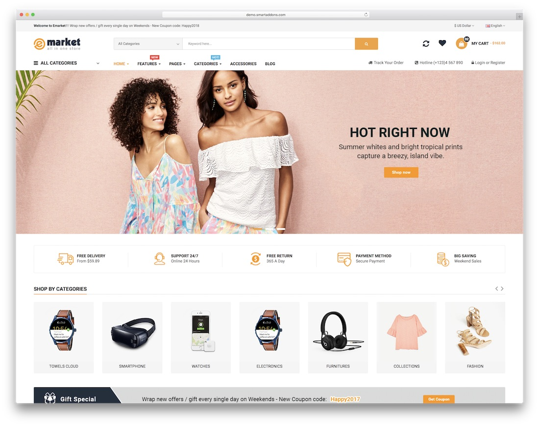 emarket ecommerce website template