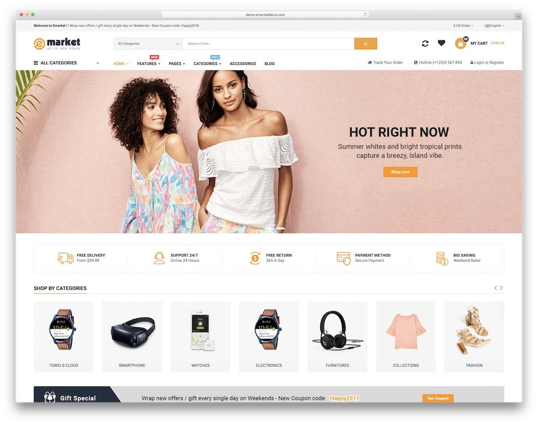 emarket ecommerce website template