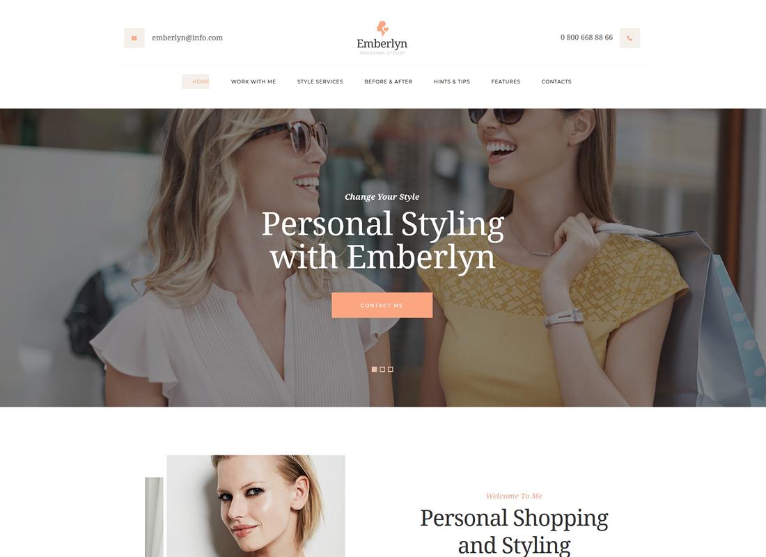 Emberlyn | Personal Stylist WordPress Theme