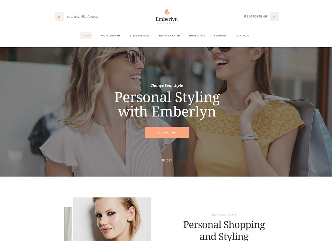 Emberlyn - Personal Stylist WordPress Theme