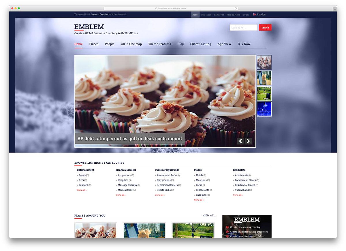emblem-classic-directory-wordpress-theme
