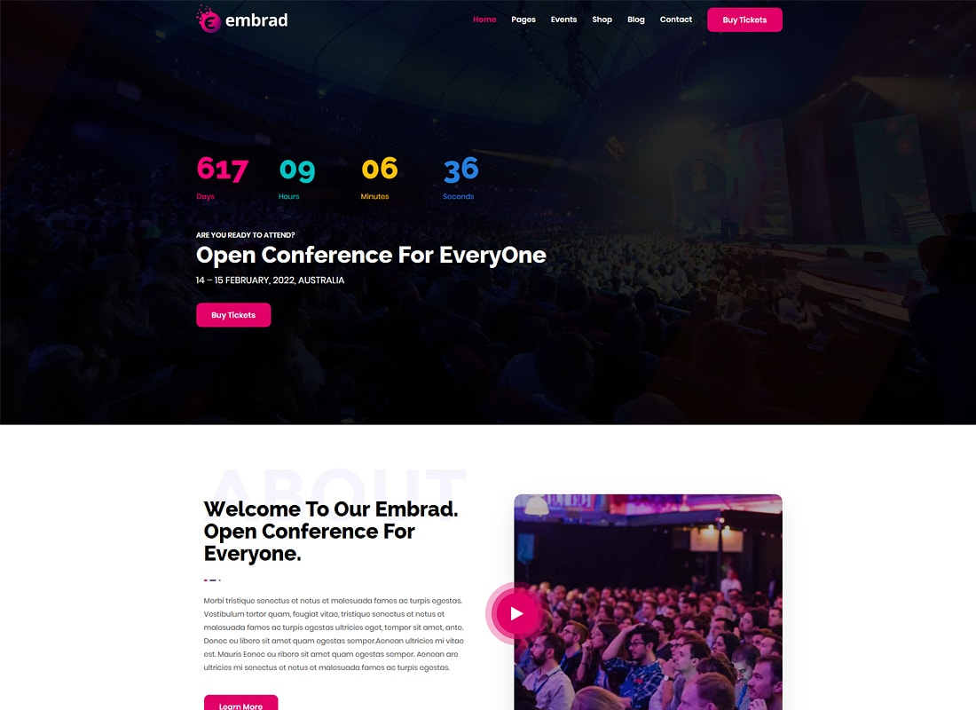 Embrad | Event & Conference WordPress Theme