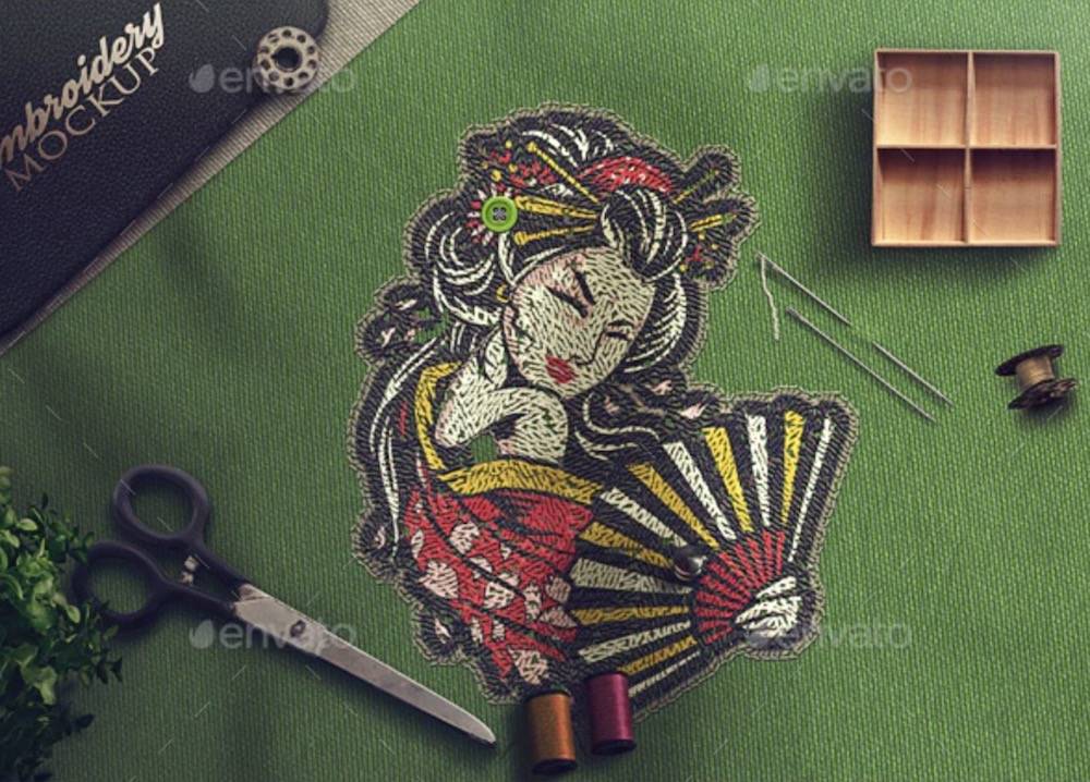 embroidery photoshop action