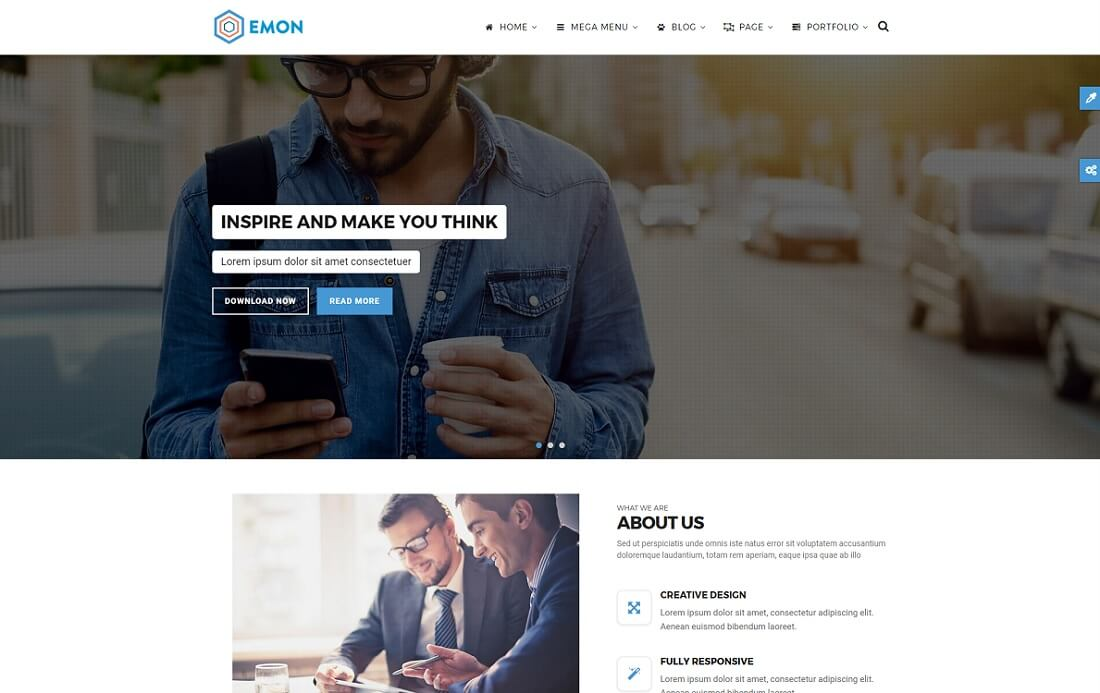 emon drupal business template