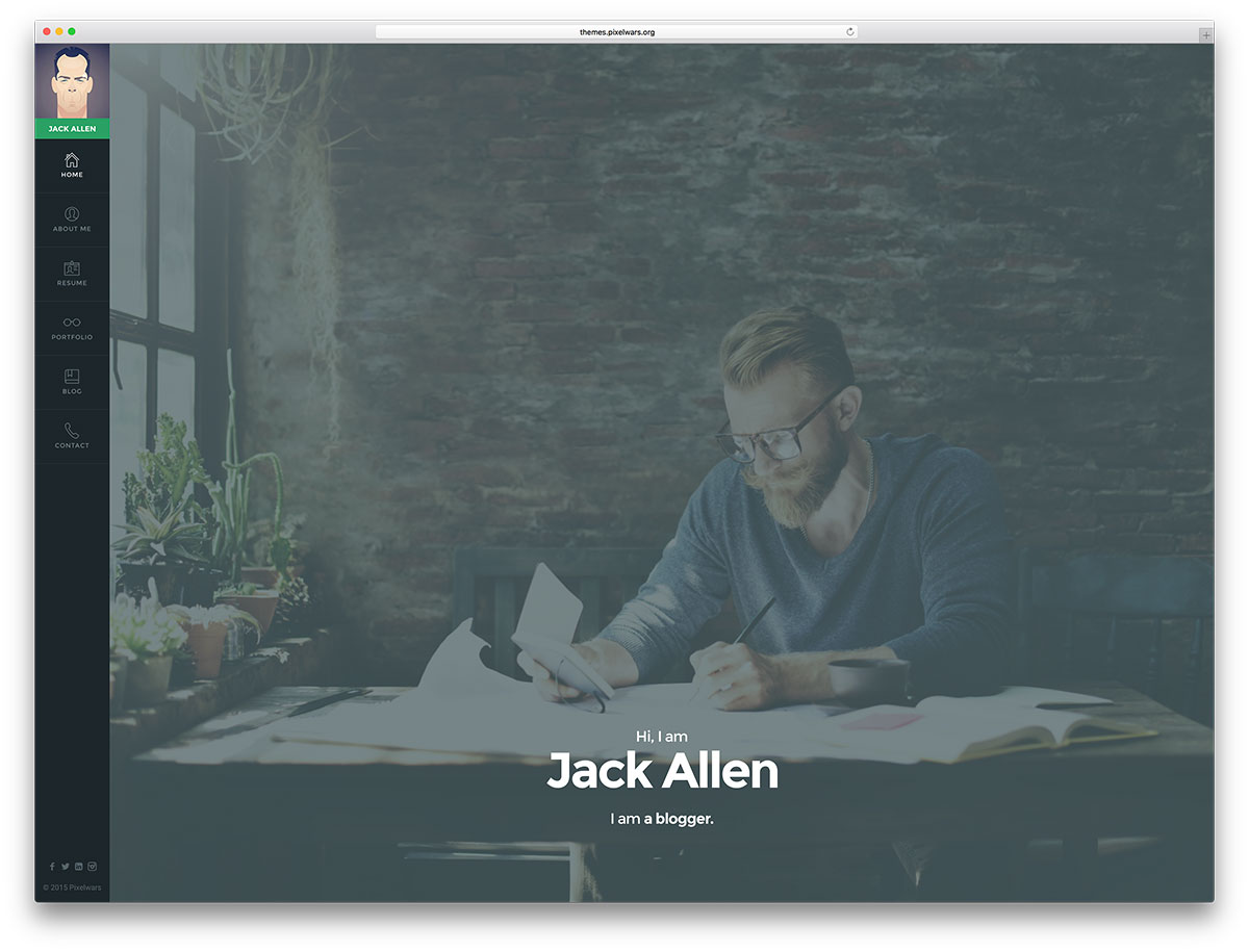 30 Best vCard WordPress Themes 2018 For Your Online Resume - Colorlib