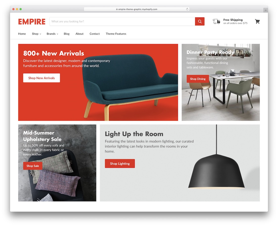 empire shopify bootstrap theme