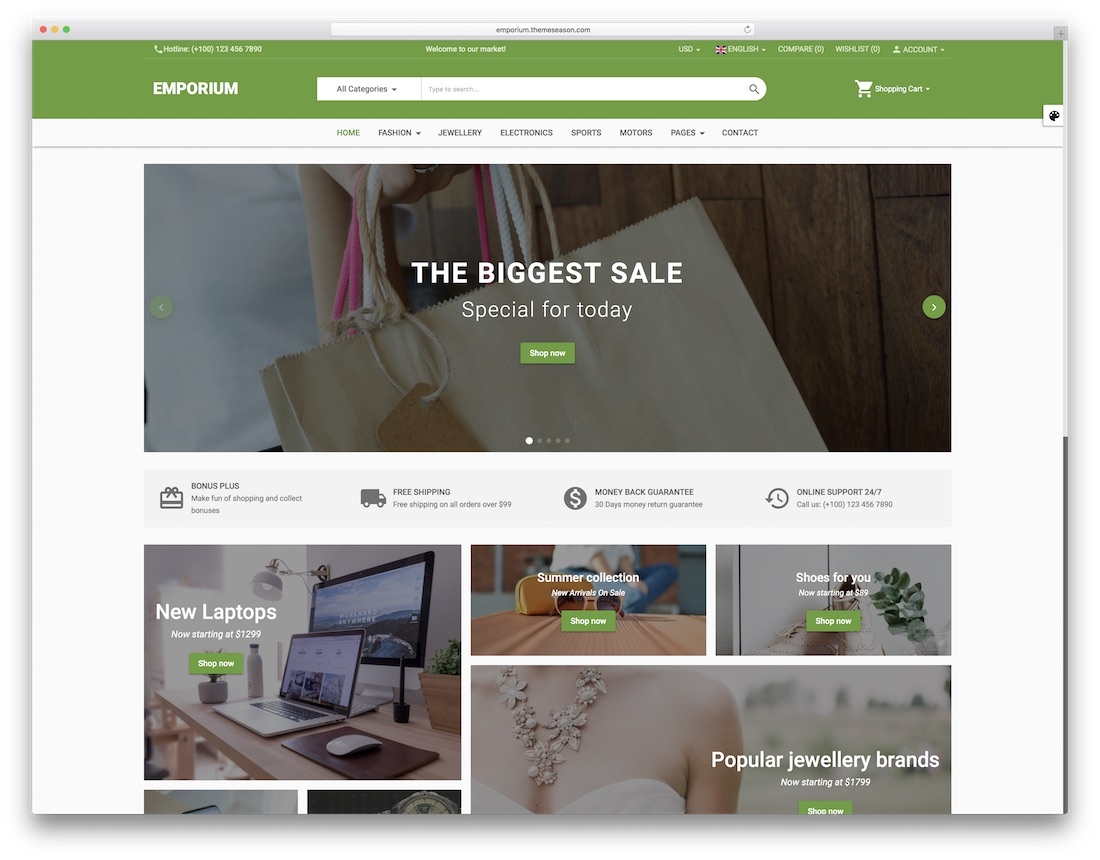 emporium fashion website template
