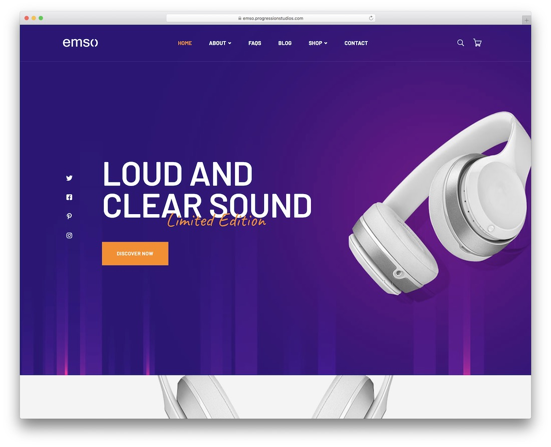 emso wordpress theme selling digital products