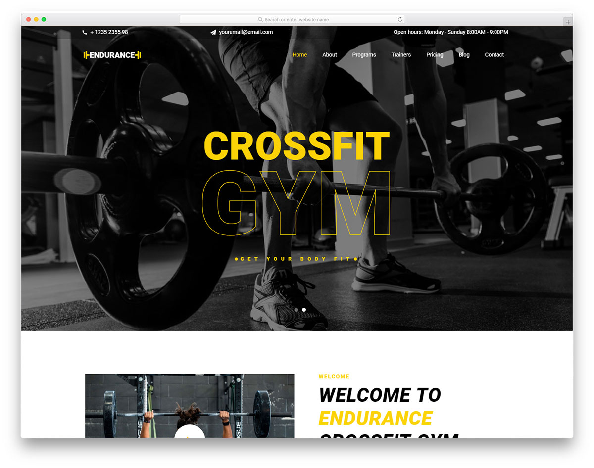 Most Popular Free Health / Fitness Website Templates 2019