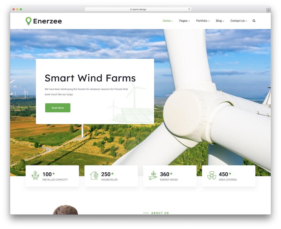 enerzee alternative energy website template