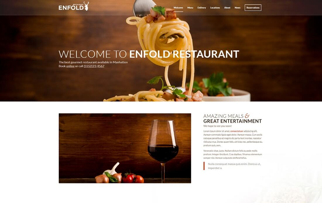 enfold catering wordpress theme