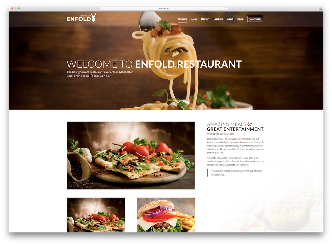 enfold responsive catering wordpress theme