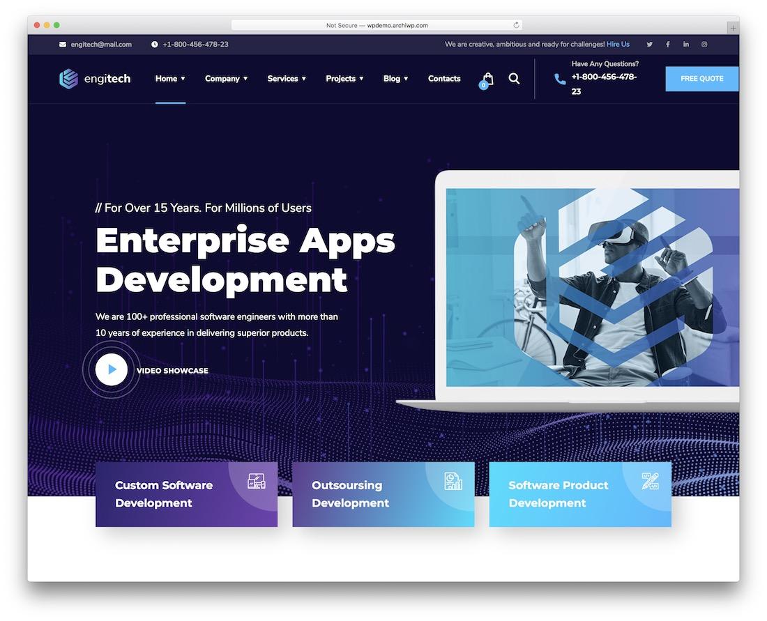 engitech bootstrap business website template