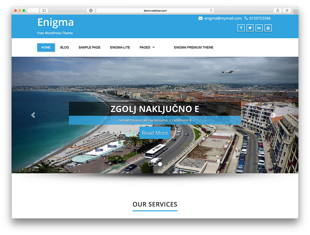 enigma corporate theme
