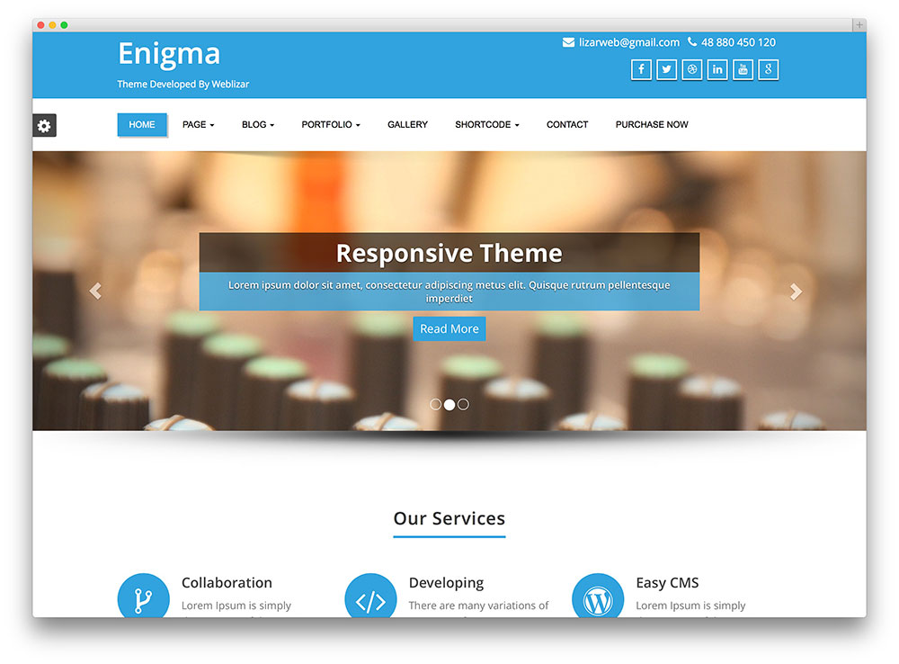 30 free responsive wordpress business themes 2018 colorlib enigma flat wordpress theme wajeb Choice Image