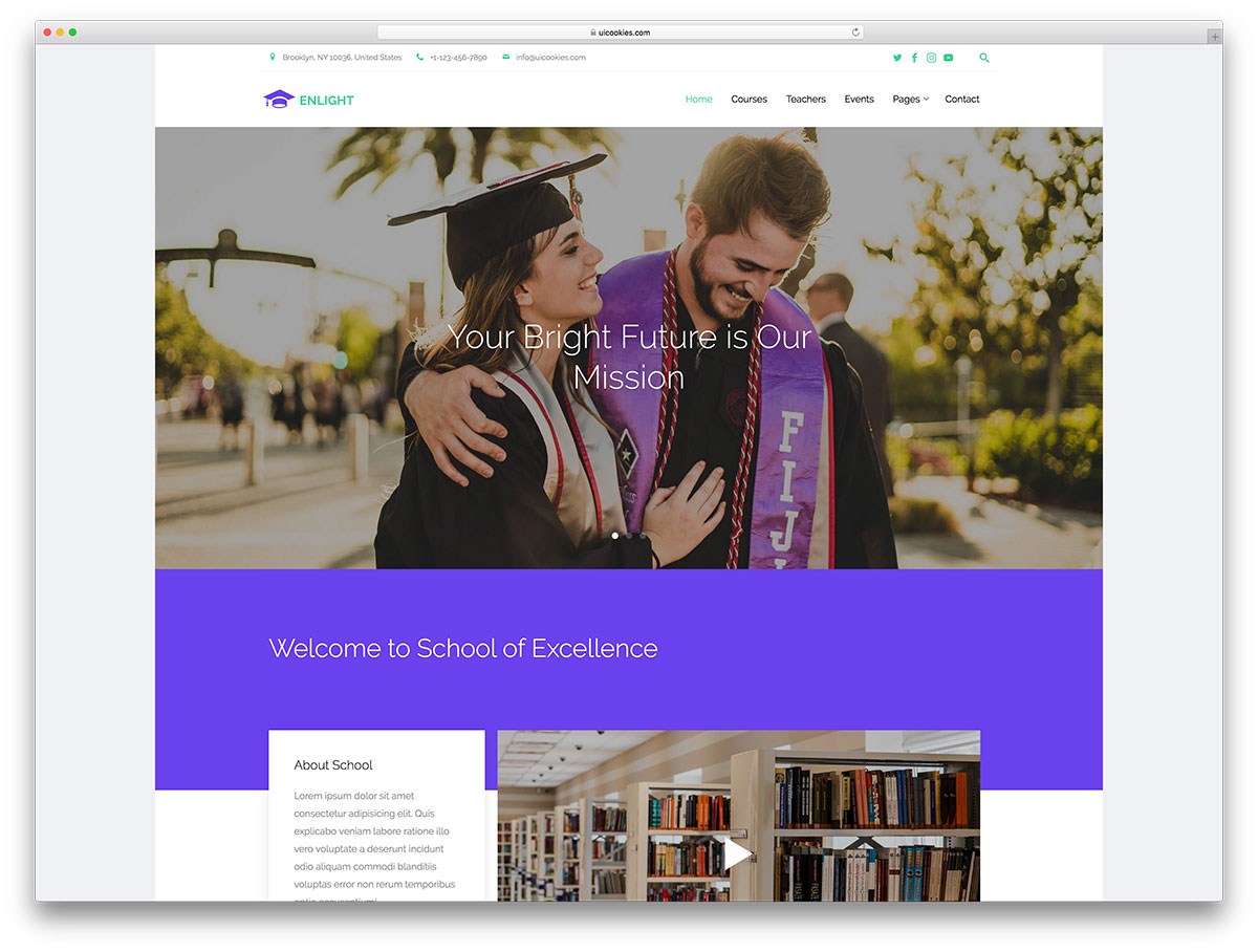 25 best free education website templates html wordpress colorlib