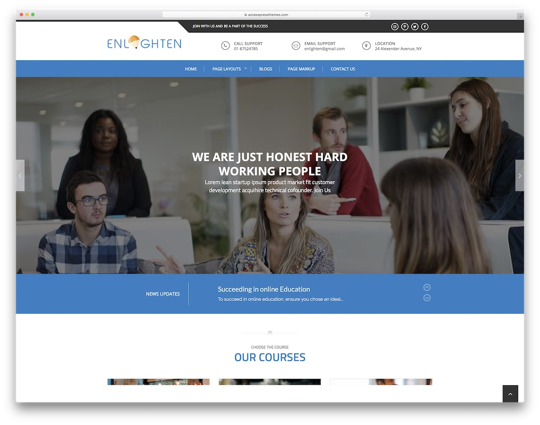 enlighten free website template