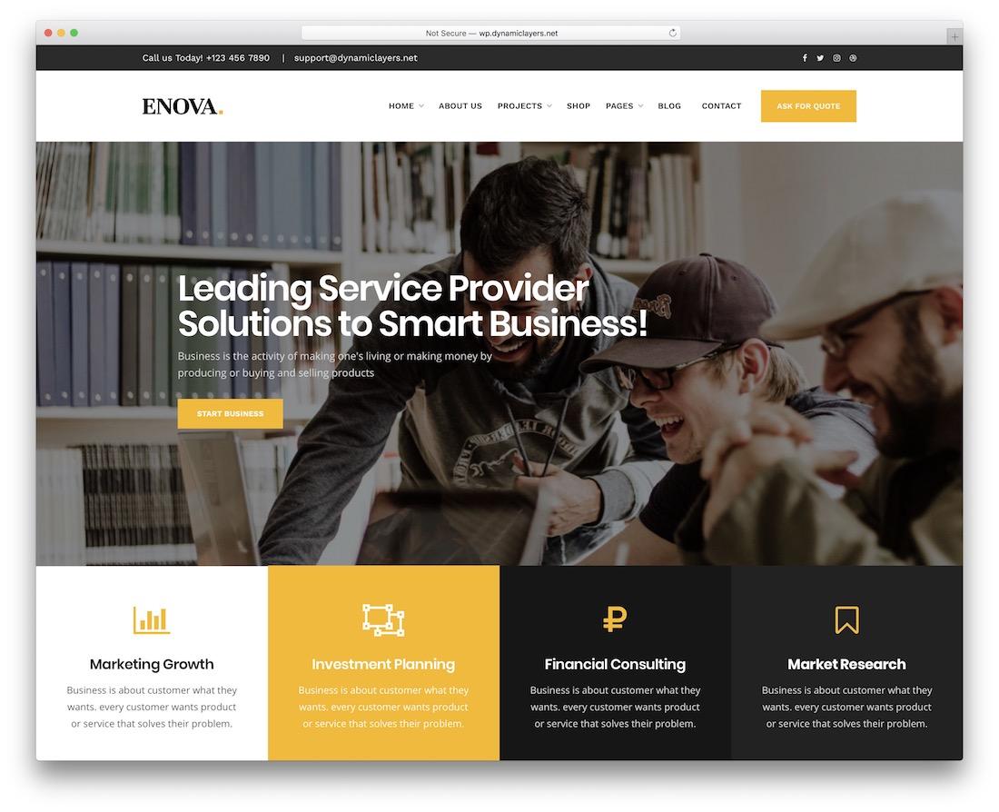 enova wordpress theme