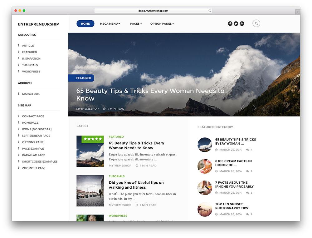 entrepreneurship - make money online blog theme