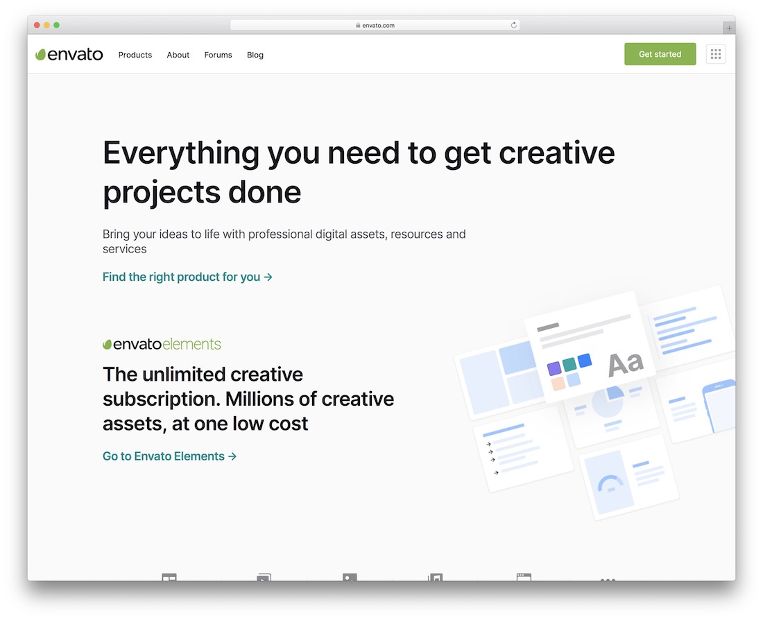 envato sell inspiration site for web design